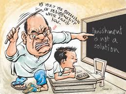 کودک با تنبیه از درس خواندن فرار می کند